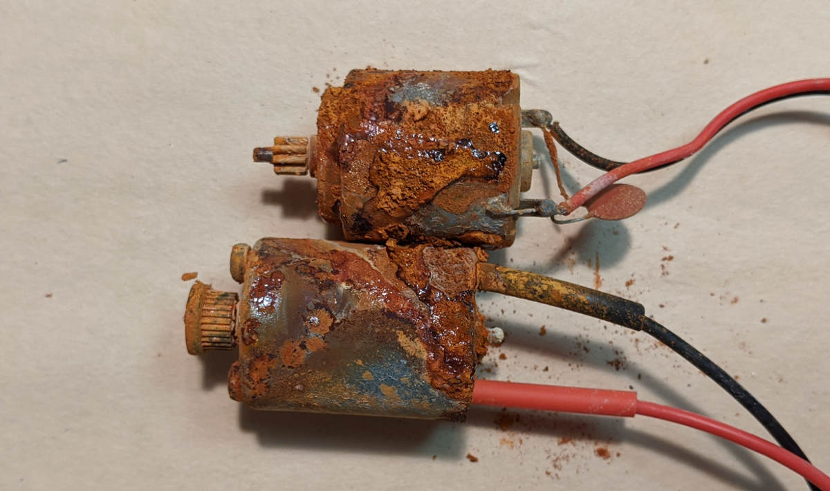 Brushed motors rusted