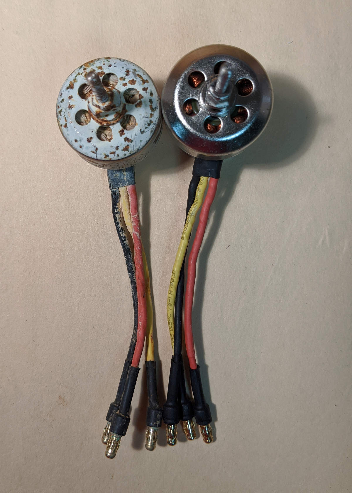 Brushless motors rusted