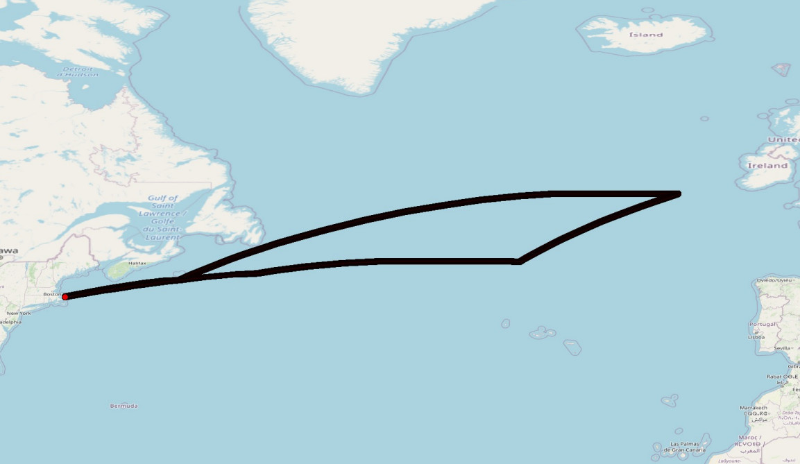 Final simulated route